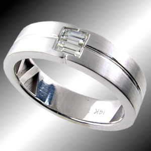 30 off IHO Accessories Satin Finished Mens Diamond Wedding Band